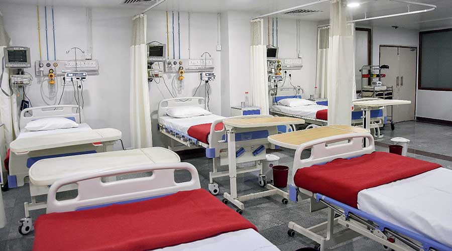 The Covid ward at Techno India-DAMA Hospital in Salt Lake which will have additional beds.