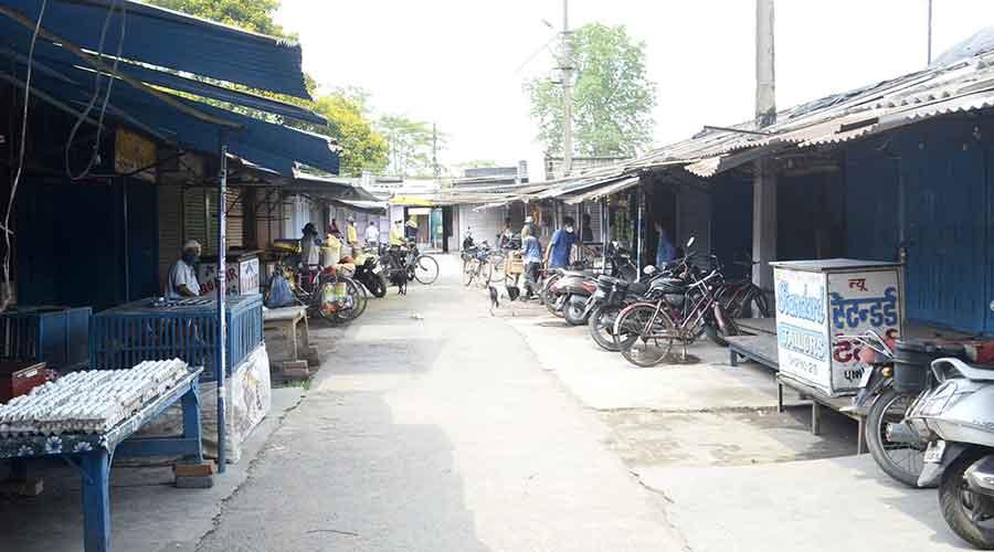 The Saharpura Market at Sindri in Dhanbad on Thursday.