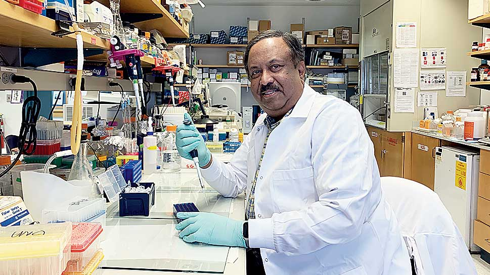 Sankar Ghosh of EC Block at his Columbia University lab in New York