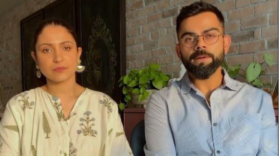 Anushka Sharma and Virat Kohli.