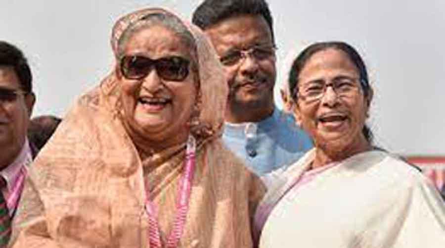 Mamata Banerjee and Bangladesh Prime Minister Sheikh Hasina