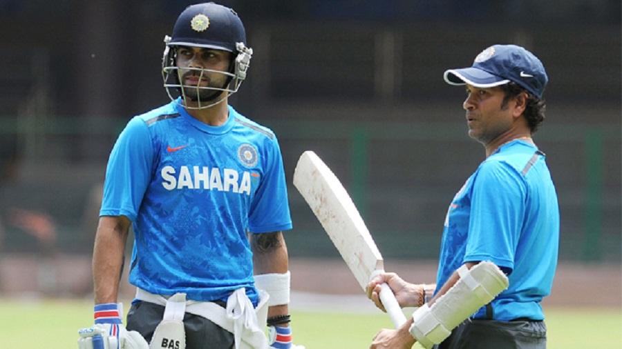 Virat Kohli and Sachin Tendulkar.