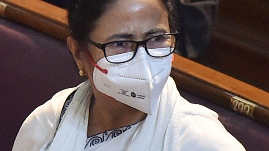 Mamata Banerjee at the Bengal Legislative Assembly in Calcutta on Saturday.
