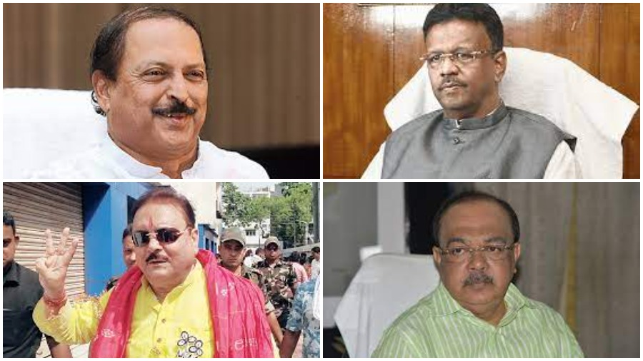 (Clockwise from top left) Subrata Mukherjee, Firhad Hakim, Sovan Chatterjee and Madan Mitra to be prosecuted by CBI