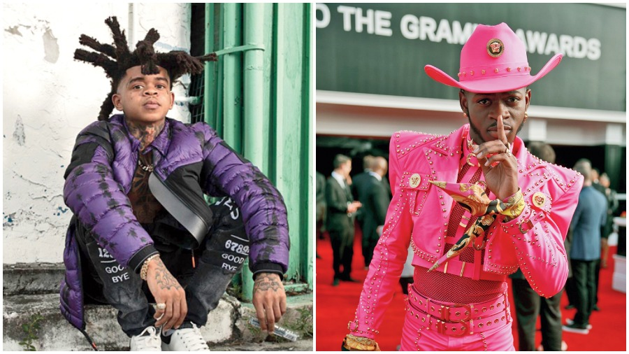 Florida rapper SpotemGottem (left) and Lil Nas X are trying ways to promote songs — Beat Box and Montero (Call Me by Your Name) respectively — by releasing versions with slight tweaks