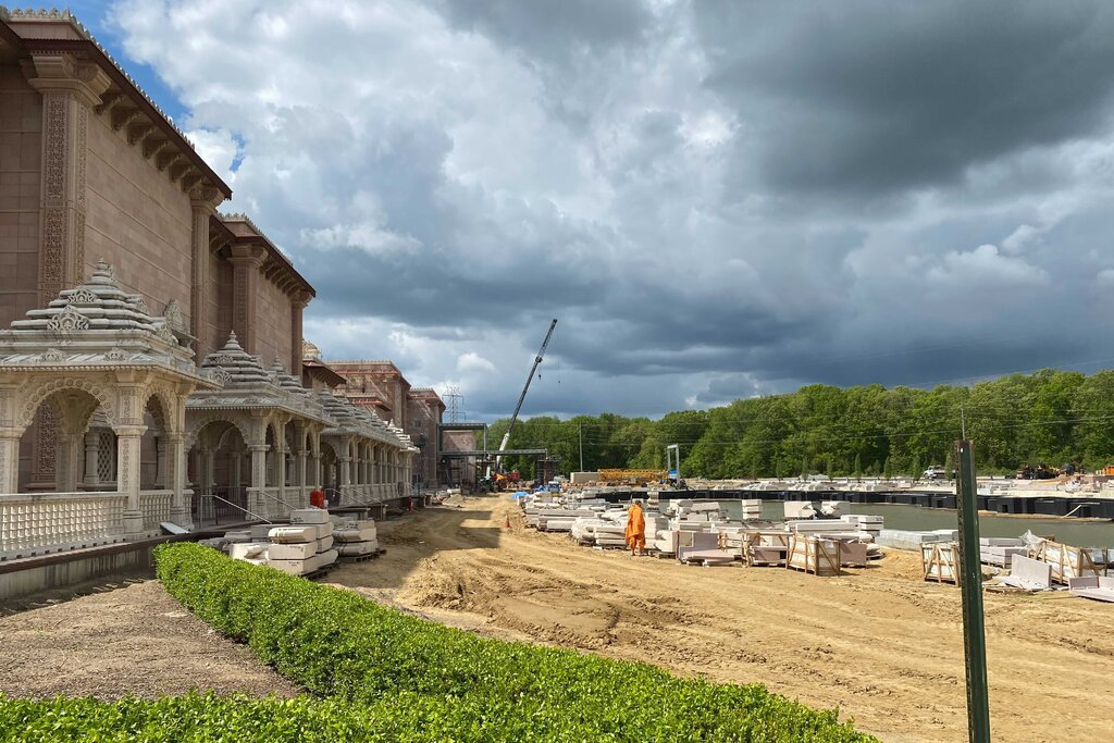 The BAPS temple opened in Robbinsville, New Jersey, in 2014 and is still under construction