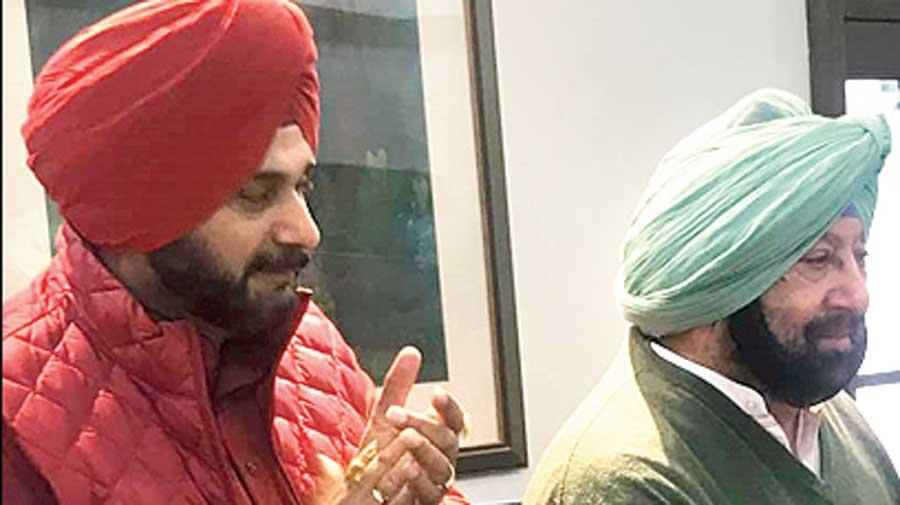 Navjot Singh Sidhu and Amarinder Singh