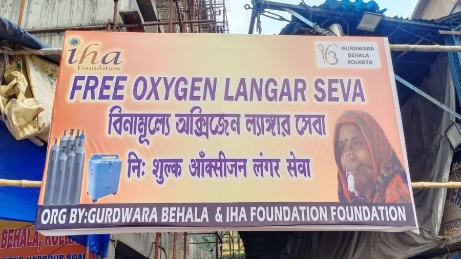 The initiative has supported Gurdwara Behala and IHA Foundation in the 'Free Oxygen Langar Seva' on the Gurdwara premises.