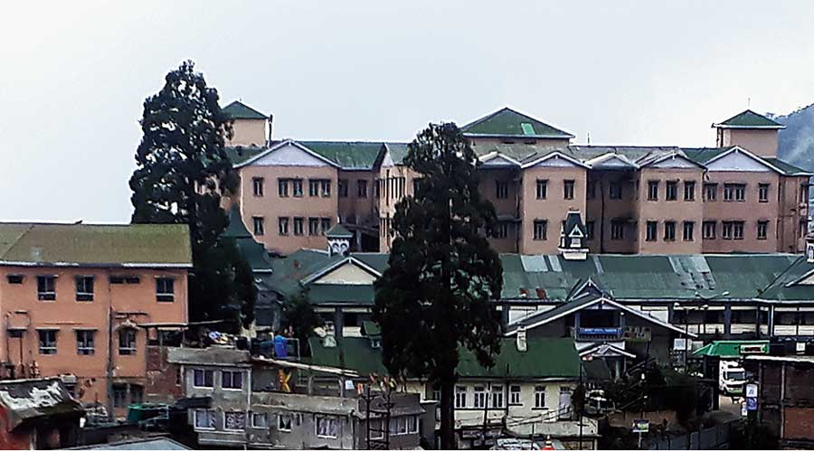 The Darjeeling district hospital.