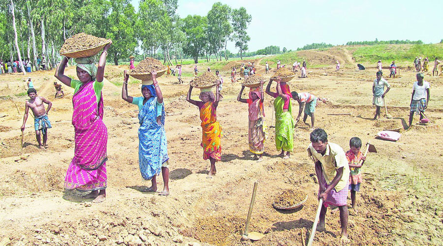 According to the Mahatma Gandhi National Rural Employment Guarantee Act, the workers have to be paid within 15 days of the end of a particular phase of work.