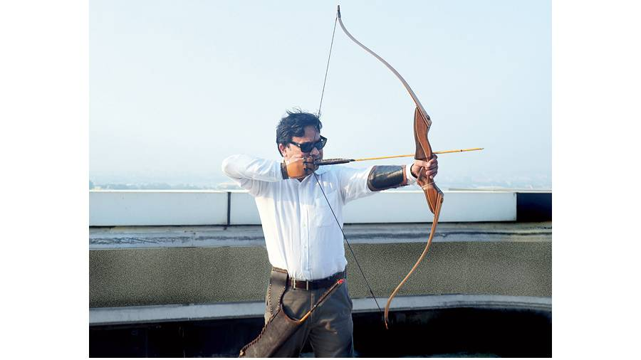 Biswajit Chakraborty, the archer, in a picture from 2016