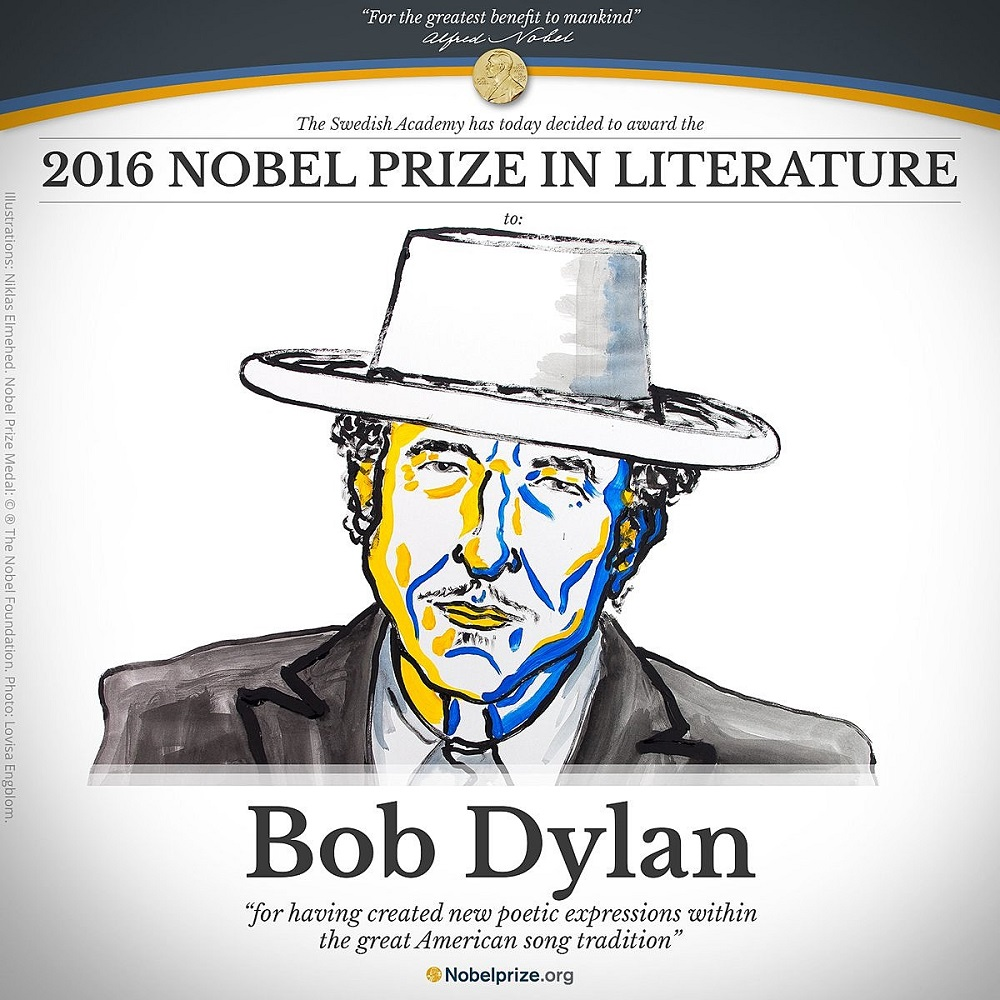 Bob Dylan was conferred the Nobel Prize for Literature in 2016