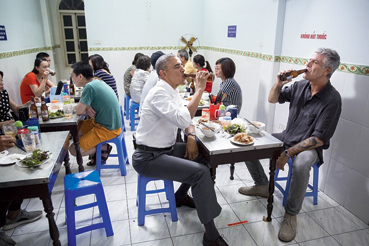 """After Anthony Bourdain passed away on June 8, 2018, former US President Barack Obama tweeted: """"'Low plastic stool, cheap but delicious noodles, cold Hanoi beer.' This is how I'll remember Tony. He taught us about food — but more importantly, about its ability to bring us together. To make us a little less afraid of the unknown. We'll miss him."""""""