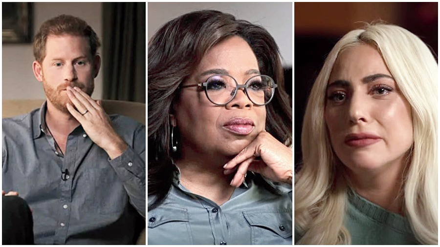 Prince Harry has been in therapy for four years while Oprah Winfrey and Lady Gaga have also had their share of trauma. Hear them on the new Apple TV+ docu series, The Me You Can't See.