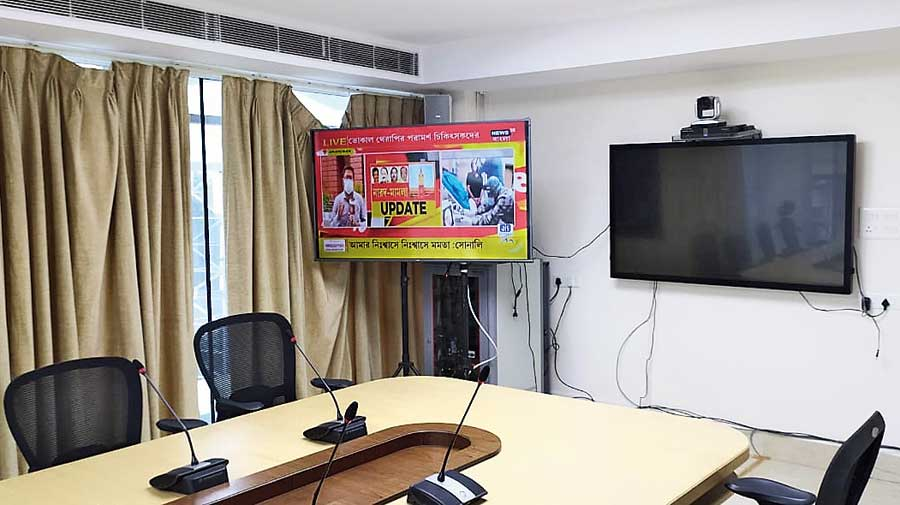 The new control room being set up at Upanna