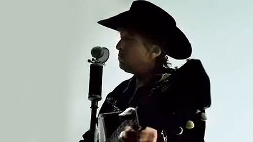 Bob Dylan in an iPod ad for Apple.