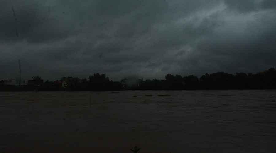 Subernarekha river in steel city on Thursday.