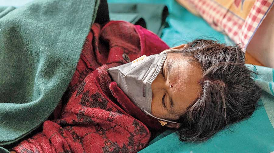 Pramila before her condition improved and she was discharged