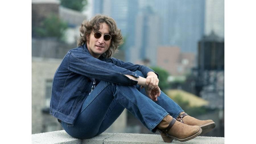 John Lennon in New York in 1974