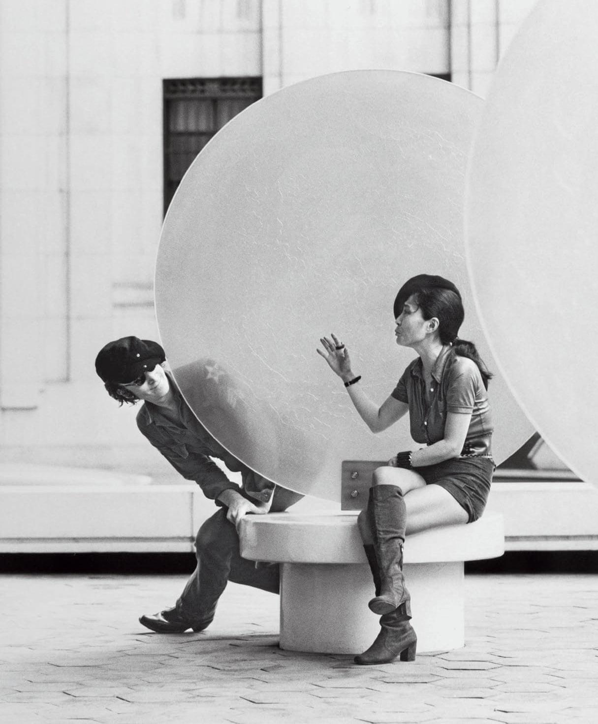 John Lennon and Yoko Ono shooting the film Imagine in New York, September 1971.