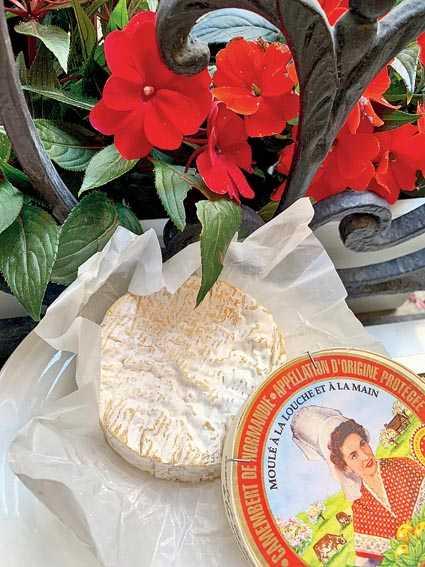 A perfectly ripe farm Camembert