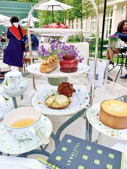 Afternoon tea in the Bristol garden