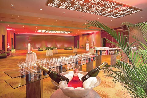 One of the five banquets at Novotel