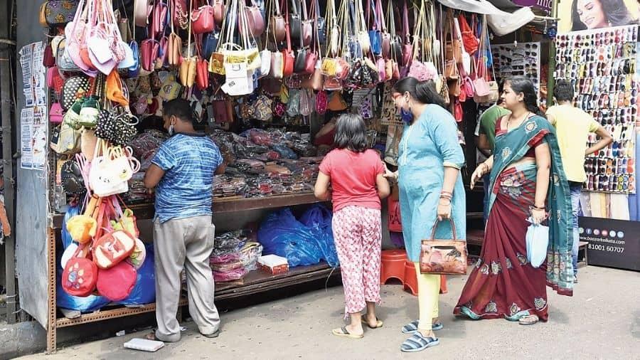 Shoppers in Hatibagan