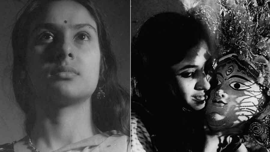 The female face in Ghatak. Left, Subarnarekha; right: Jukti Takko Aar Gappo. Courtesy of NFAI, Pune.