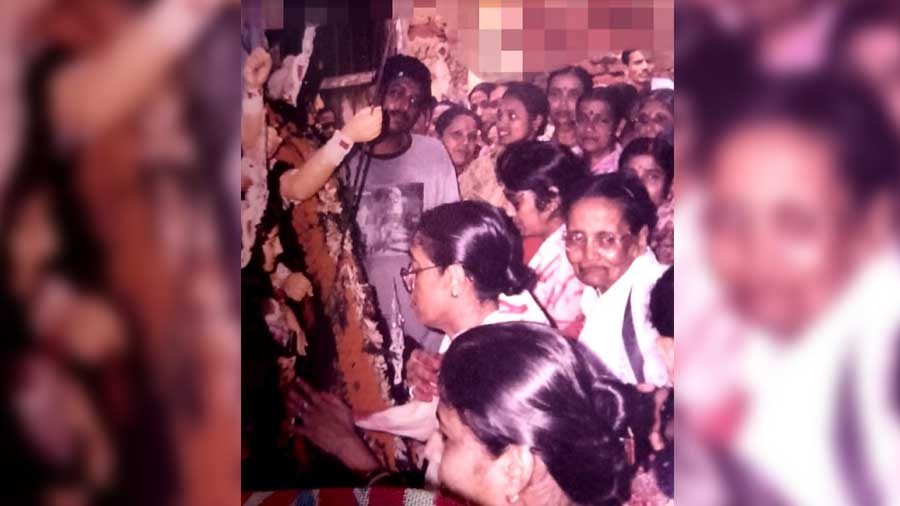 Widows participate in 'Sindoor Khela'