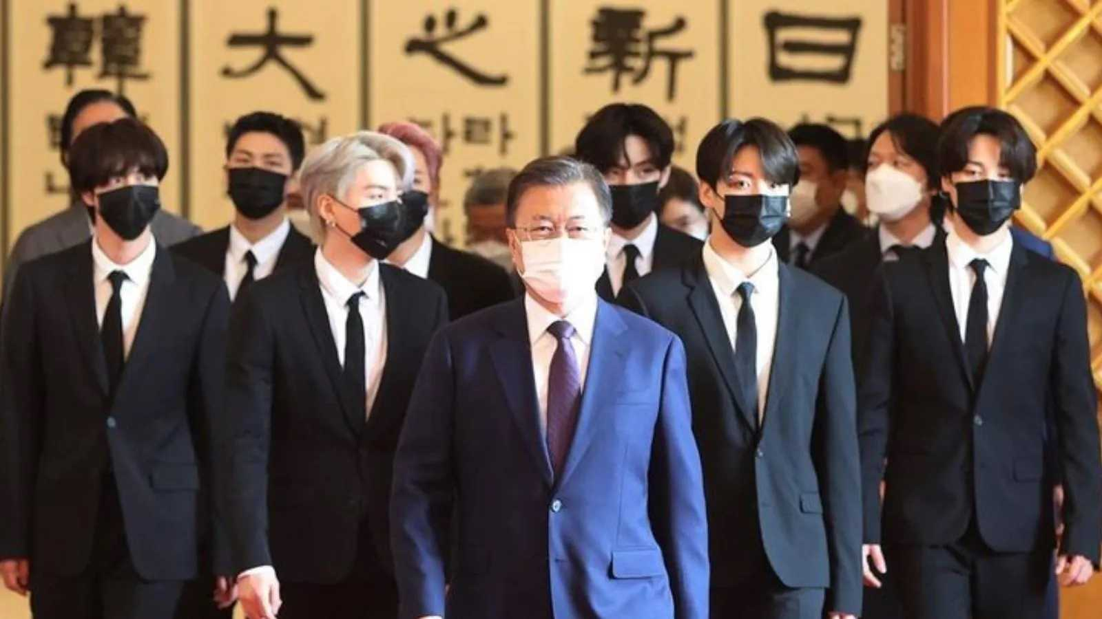 """All the president's men: Last month, South Korea's President Moon Jae-in appointed the BTS members """"special envoys for future generations and cultures"""". They accompanied the President to the 76th United Nations General Assembly and participated in the second meeting of the Sustainable Development Goals (SDG) Moment"""