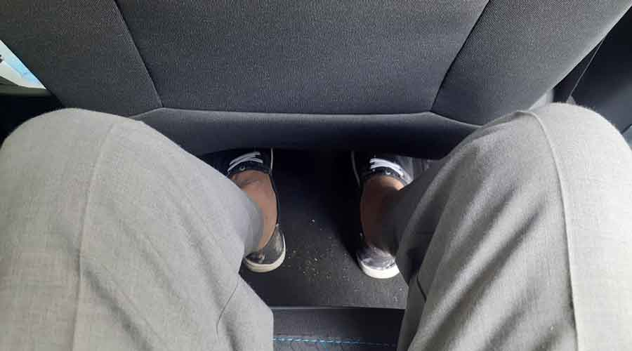 Rear passengers have sufficient legroom