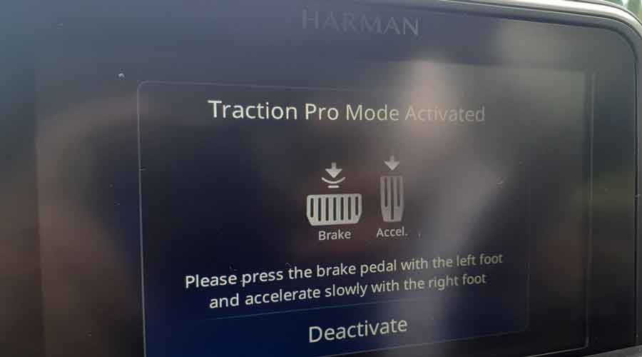 Traction Pro Mode has to be activated by the driver but it looks like a pretty good thing to have
