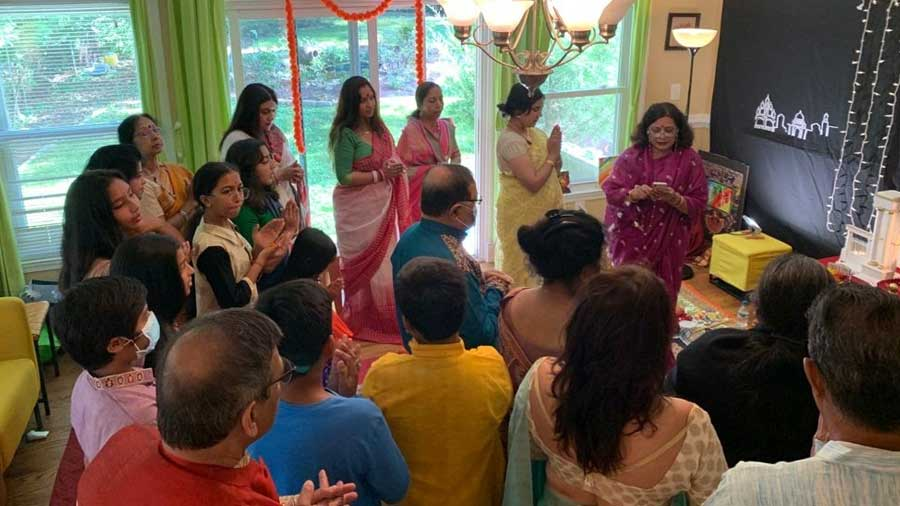 The celebrations were held at the Banerjee home in Maryland, US.