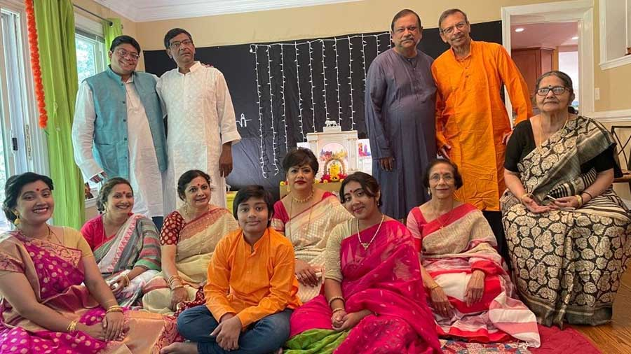 The families assembled together after months of meticulous planning.