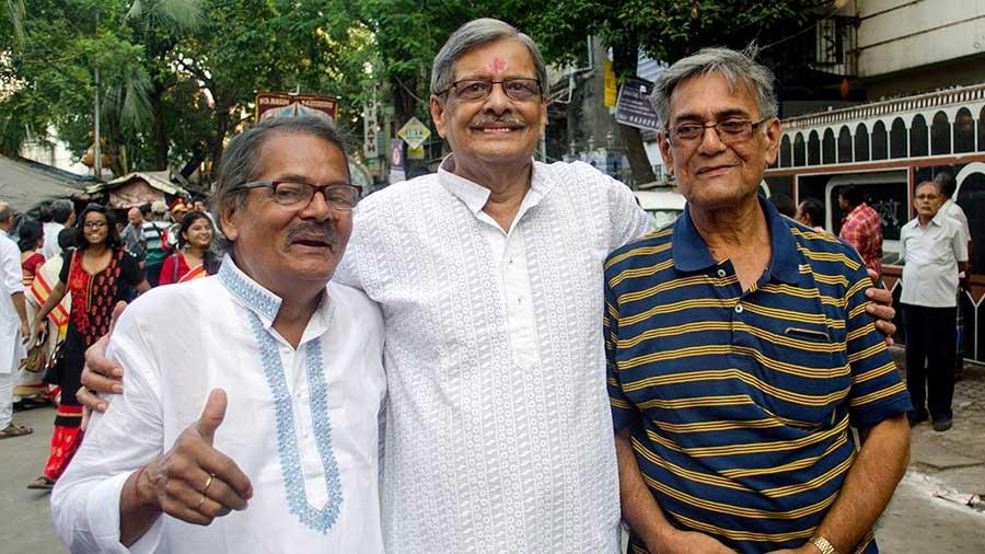 The trio behind the idea: (L–R) Prabir Krishna Deb, Swapan Krishna Deb and Ajoy Dutt