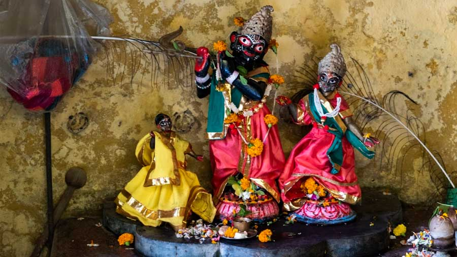 Radha and Krishna can be found nestled in a corner, just ahead of the temple's main gate