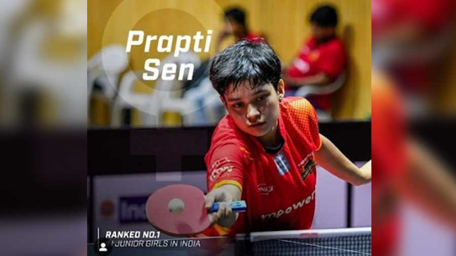 At just 20, Prapti has dominated both the national and international table tennis circuits