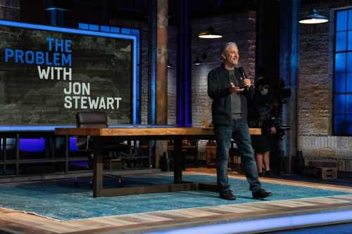 """The Apple TV+ show, Stewart told the crowd at a recent taping, was about """"trying to figure out how to diagnose what's really, actually going on here""""."""