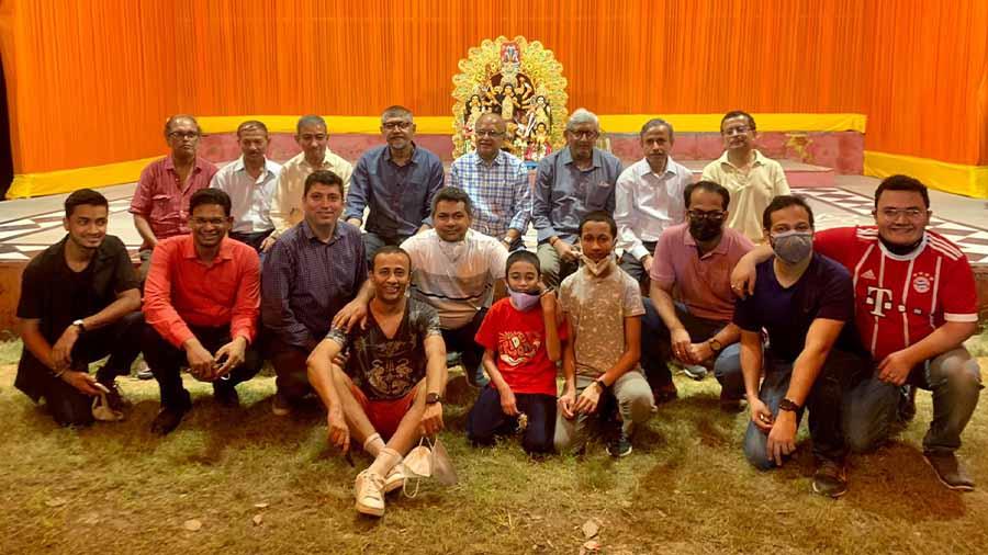 Members of the Sarbojanin Puja Samity, D Block