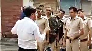 "Footage tweeted by BJP MP Varun Gandhi on Saturday shows a man resembling SDM Ayush Sinha instructing the men in uniform to ""break"" heads"