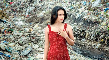 Surbhi at the garbage dump yard in Jhiri near Ranchi