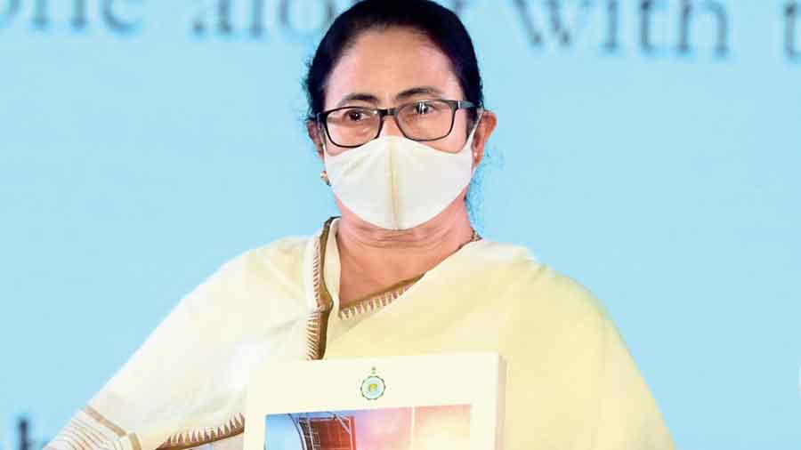 Chief minister Mamata Banerjee at Panagarh Industrial Park in West Burdwan on Wednesday