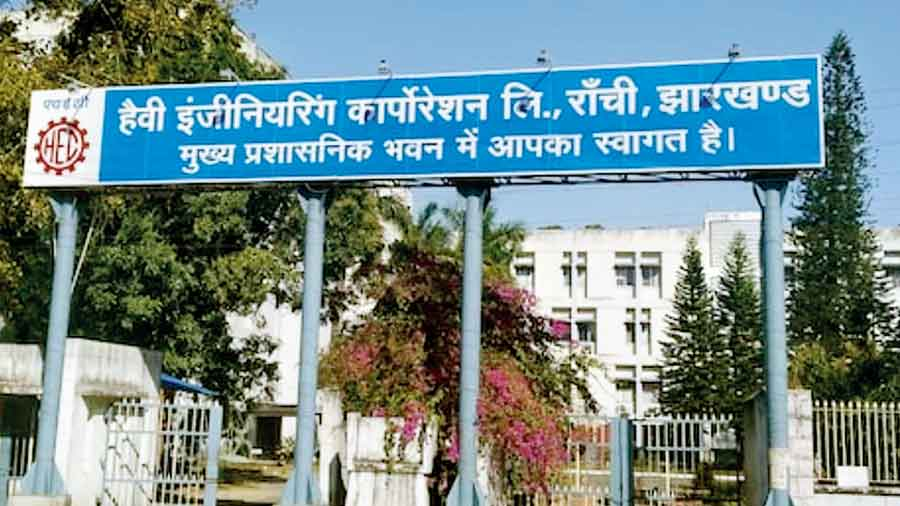 A view of the HEC building at Dhurwa in Ranchi.