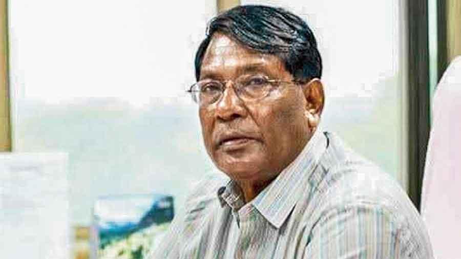 Jharkhand finance  minister Rameshwar  Oraon in Ranchi.