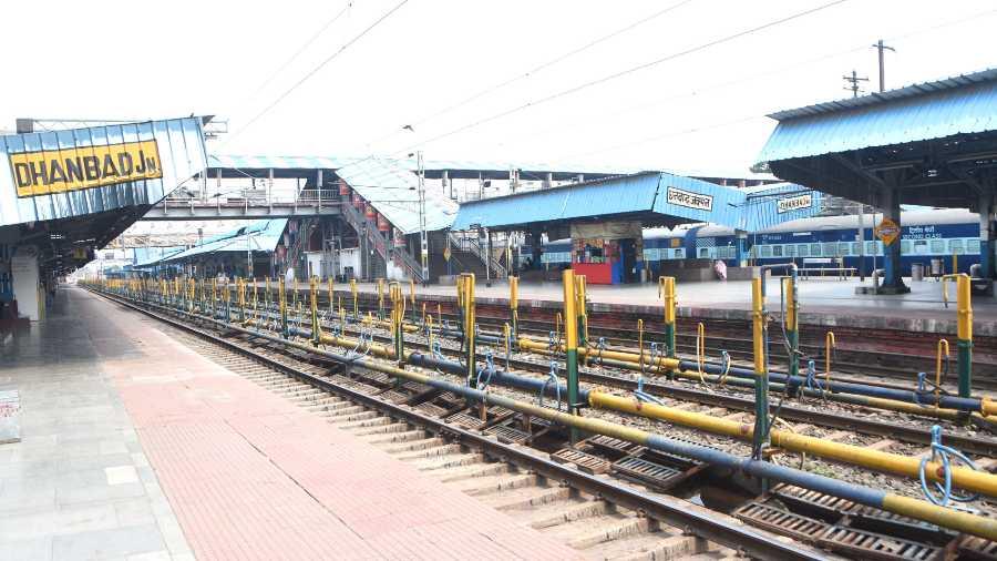 Dhanbad railway station.