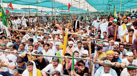 Farm protest? BJP waves online poll