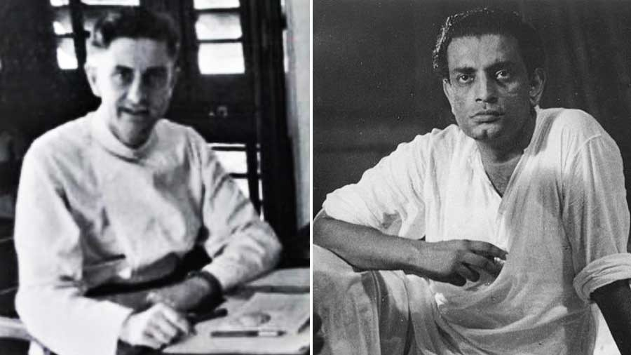 Father Theodore Mathieson, left, and Satyajit Ray