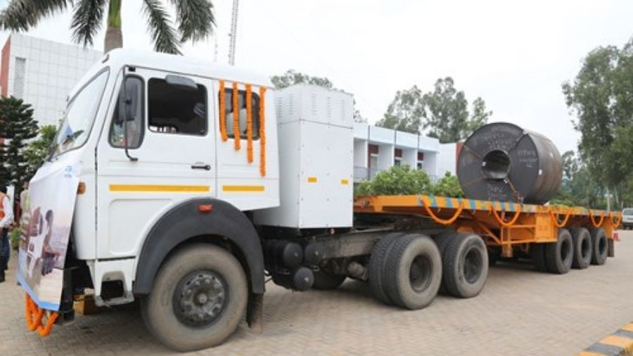 A Tata Steel EV at the Sahibabad plant in Uttar Pradesh in July.