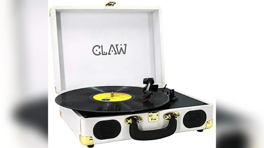 CLAW Stag Portable Vinyl Record Player on Amazon